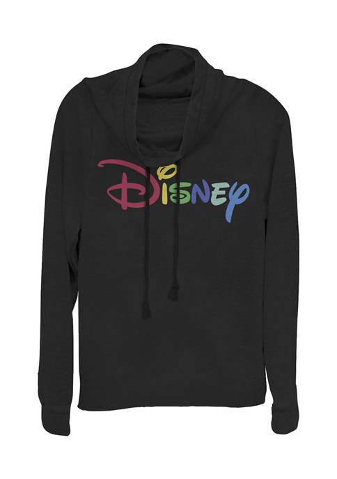 Disney Logo Juniors Licensed Disney Multicolor Disney Pullover