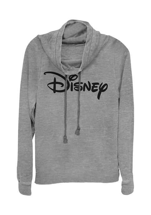 Juniors Licensed Disney Basic Disney Logo Pullover Top