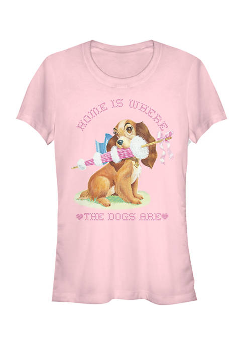 Juniors Officially Licensed Disney Lady and the Tramp T-Shirt