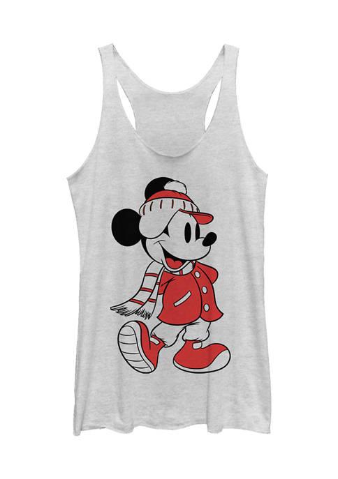 Juniors Licensed Disney Mickey Winter Fill Tank Top