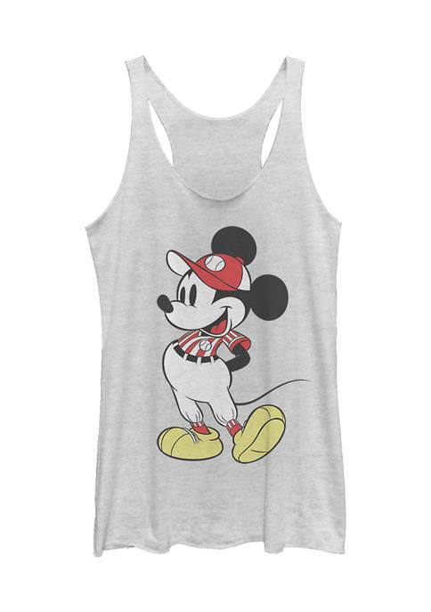 Juniors Licensed Disney Baseball Season Mickey Tank Top