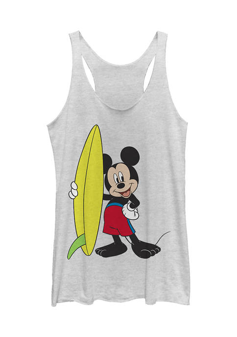 Juniors Licensed Disney Mickey Surf Tank Top
