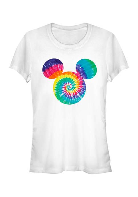 Juniors Licensed Disney Mickey Tie Dye Fill T-Shirt
