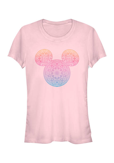 Juniors Licensed Disney Mickey Mandala Fill T-Shirt