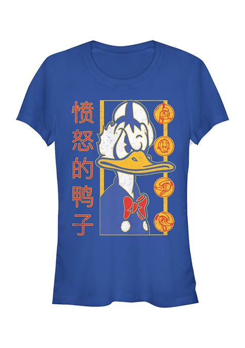 Juniors Licensed Disney Angry Duck T-Shirt