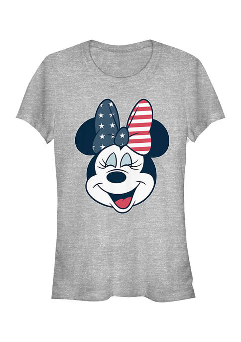 Mickey Classic Juniors American Bow Graphic T-Shirt