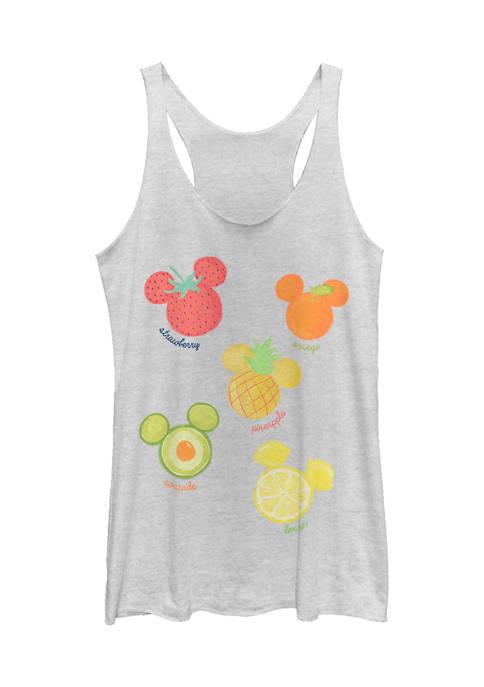 Mickey Classic Juniors Assorted Fruit Graphic Tank