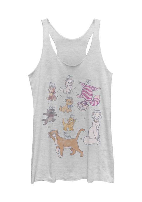 Juniors Licensed Disney Kitties Tank Top