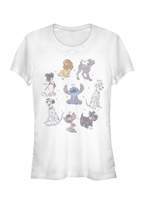 Juniors Licensed Disney Dogs T-Shirt