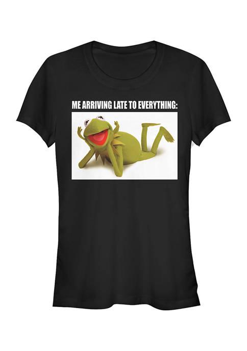Juniors Licensed Disney Late Kermit T-Shirt
