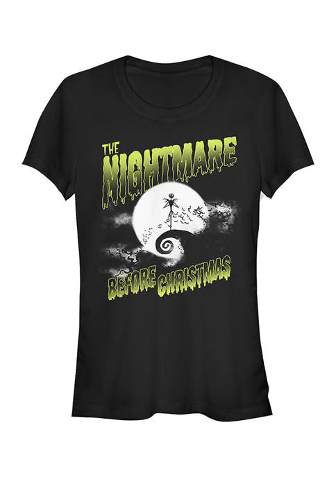 Juniors Officially Licensed Disney Nightmare Before Christmas T-Shirt