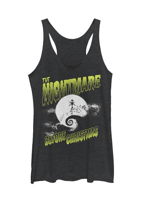 Juniors Licensed Disney Spooky Nightmare Tank Top
