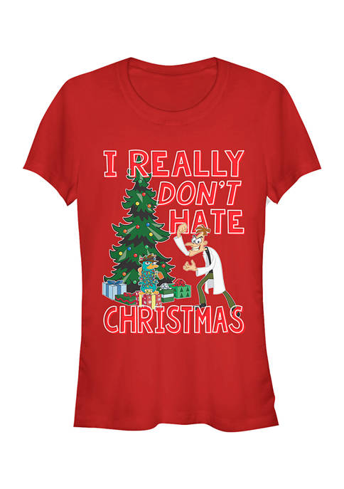Juniors Phineas and Ferb Doof Christmas T-Shirt