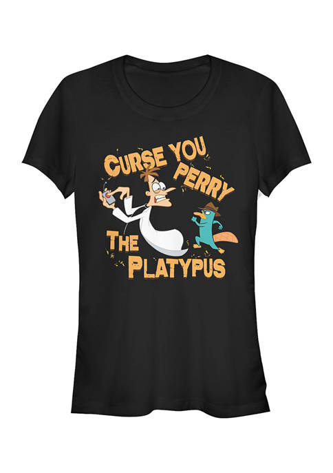 Juniors Phineas and Ferb Curse You T-Shirt