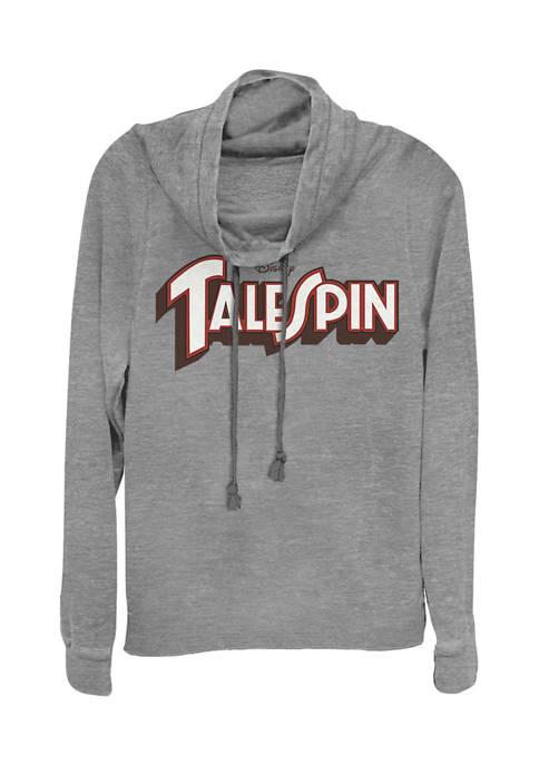 Juniors Licensed Disney Logo Spin Pullover Top