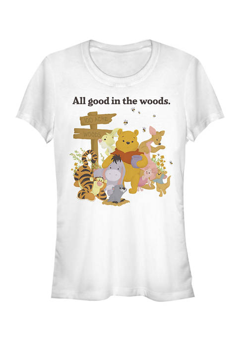 Juniors Licensed Disney Pooh In The Woods T-Shirt