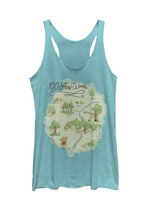 Juniors Licensed Disney Acre Map Tank Top