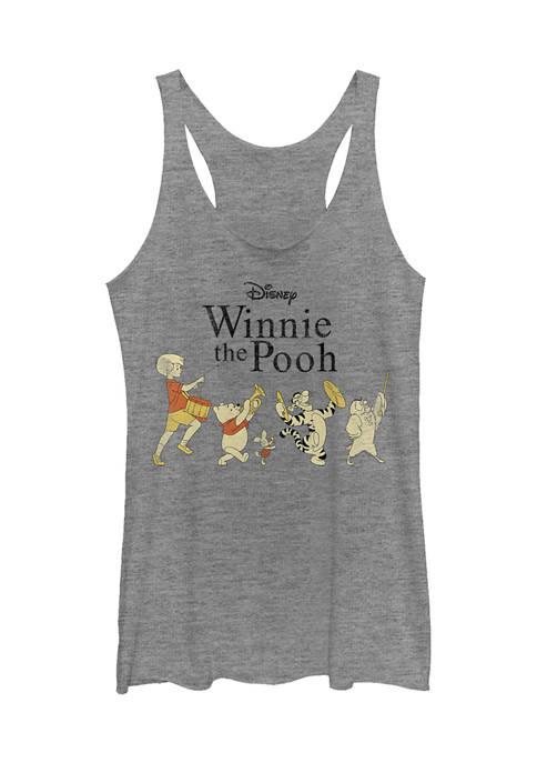 Juniors Licensed Disney Pooh Parade Tank Top