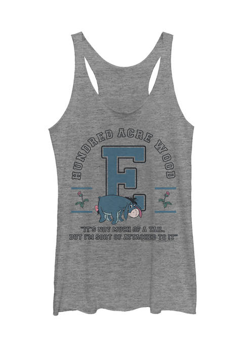 Juniors Licensed Disney Eeyore Collegiate Tank Top