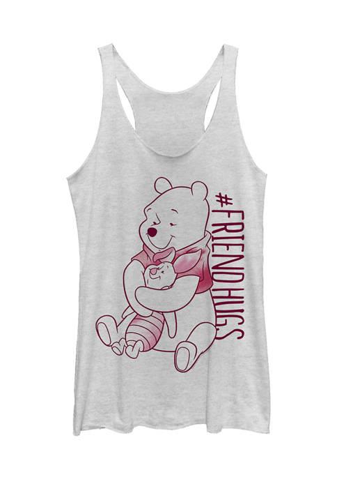 Juniors Licensed Disney Piglet Pooh Hugs Tank Top