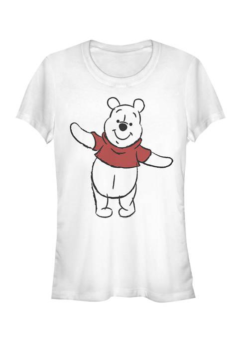 Juniors Licensed Disney Basic Sketch Pooh T-Shirt