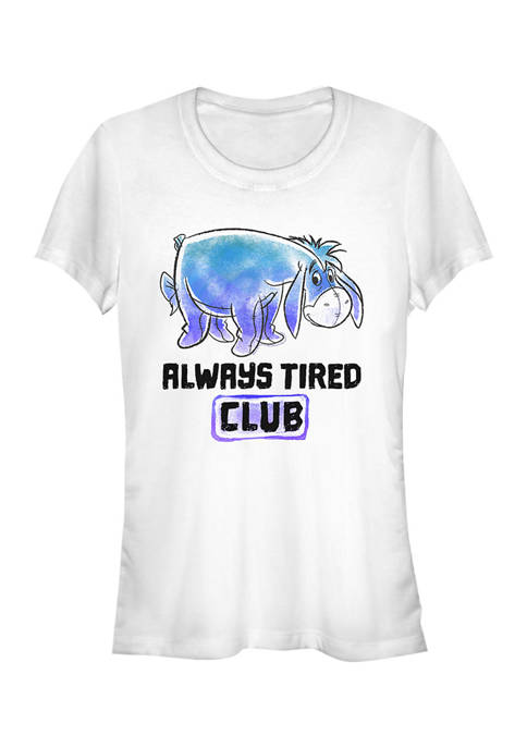 Juniors Licensed Disney Eeyore Tired Club T-Shirt