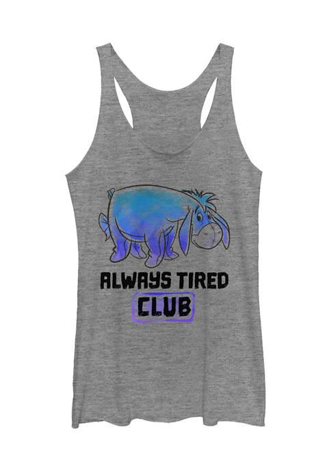 Juniors Licensed Disney Eeyore Tired Club Tank Top