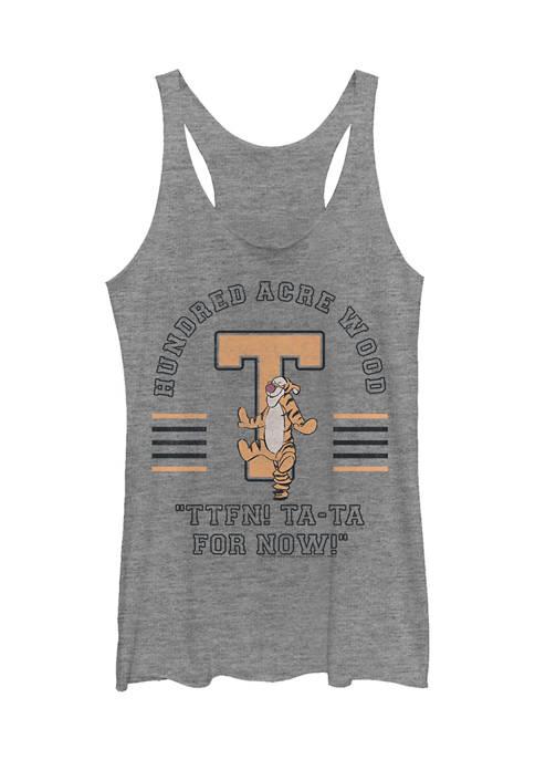 Juniors Licensed Disney Tigger Collegiate Tank Top