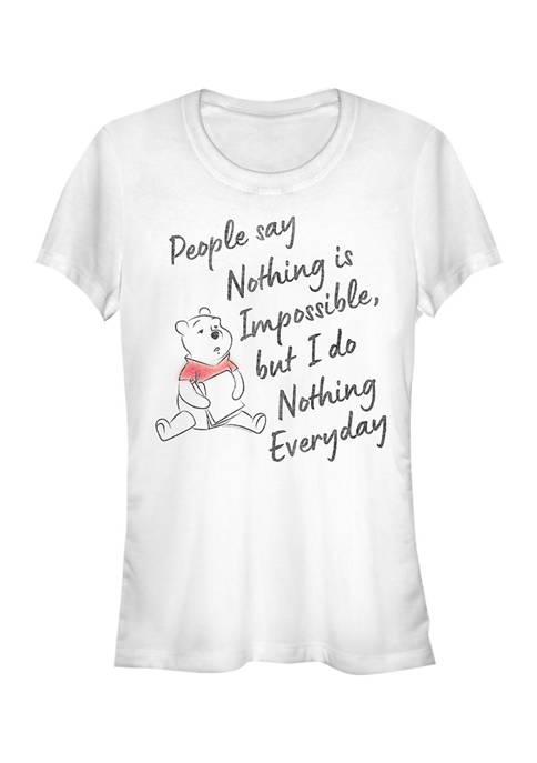 Winnie the Pooh Juniors Licensed Disney Nothing Is