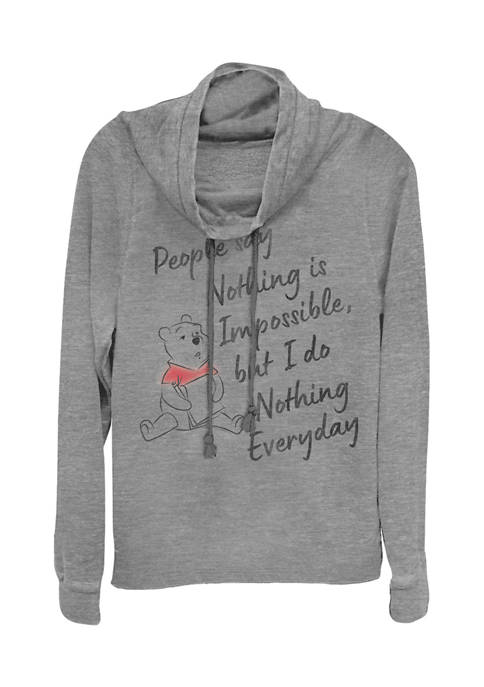 Juniors Licensed Disney Nothing Is Impossible Pullover Top