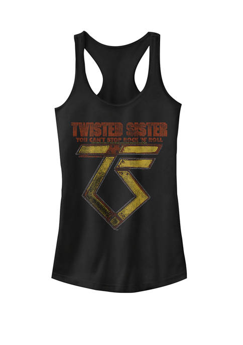 You Can't Stop Rock N Roll Logo Racerback Graphic Tank