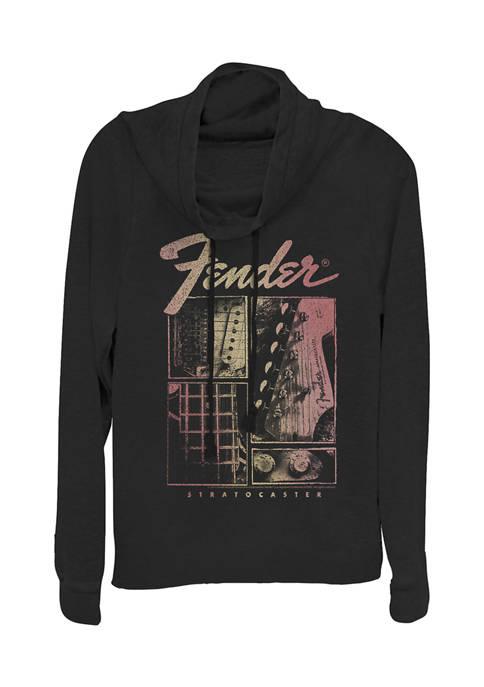 Juniors  Strat Box Pullover Graphic Top