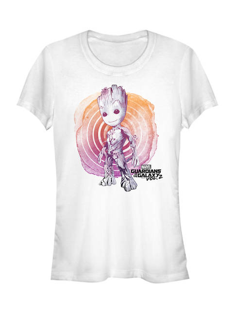 Guardians Of The Galaxy Watercolor Groot Short Sleeve Graphic T-Shirt