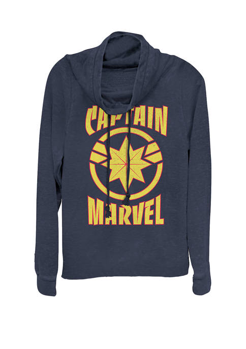 Captain Marvel™ Classic Star Logo Cowl Neck Graphic Pullover
