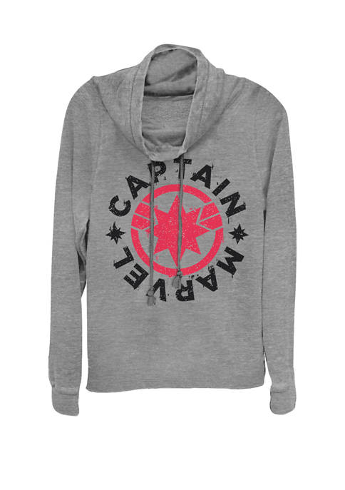 Captain Marvel™ Movie Circle Red Logo Cowl Neck Pullover