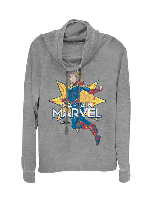 Captain Marvel™ Star Action Pose Cowl Neck Pullover