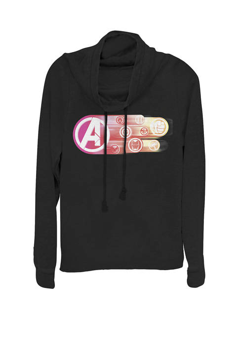 Avengers Endgame Team Symbols Avenger Color Fade Cowl Neck Pullover