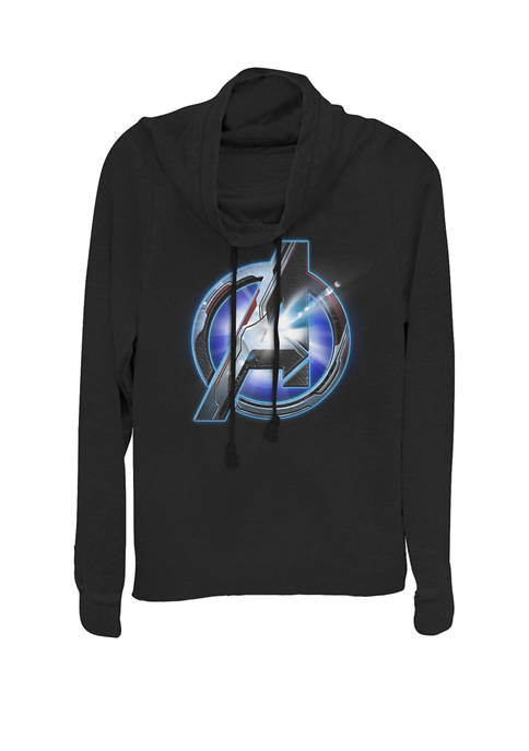 Avengers Endgame Avenger Tech Logo Shine Cowl Neck Pullover
