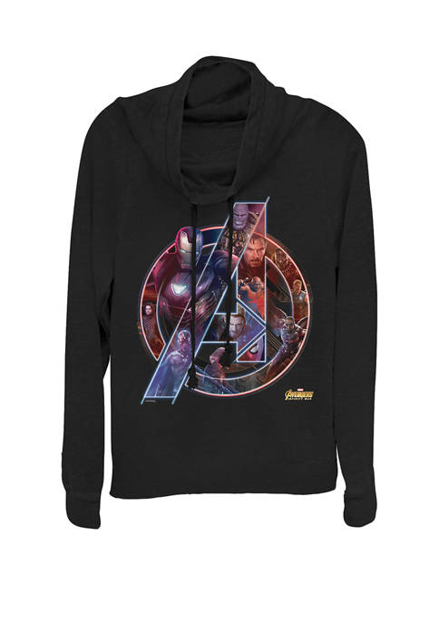 Avengers Infinity War Neon Team Cowl Neck Graphic Pullover
