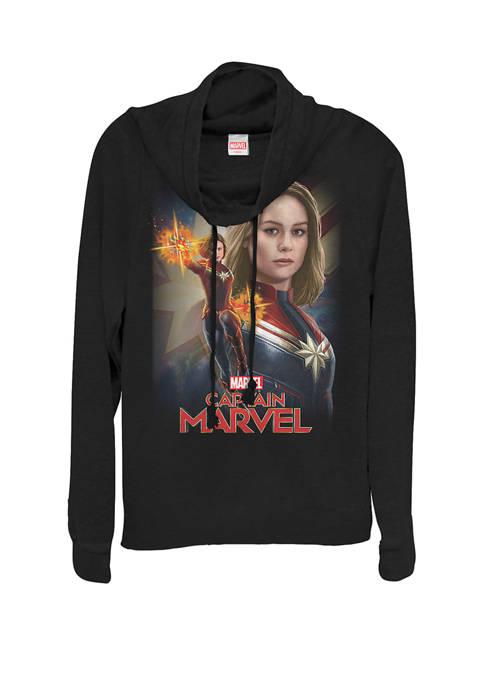 Captain Marvel™ Powers Portrait Cowl Neck Graphic Pullover