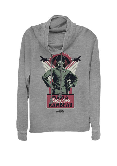 Captain Marvel™ Maria Rambeau Portrait Cowl Neck Graphic Pullover