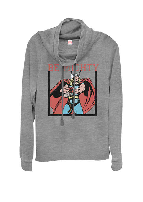 Marvel™ Classic Thor Be Mighty Cowl Neck Graphic