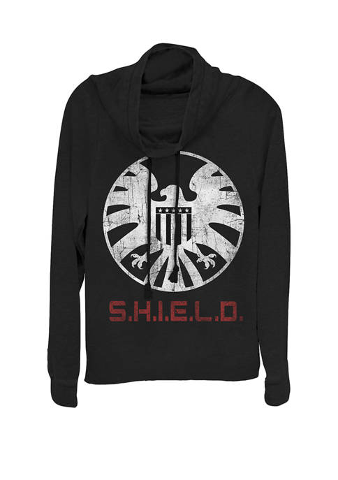 Marvel™ Agents of SHIELD Distressed Logo Cowl Neck