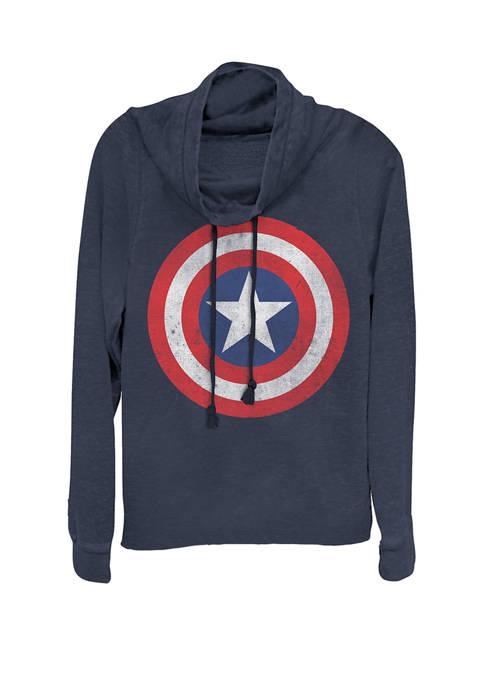 Marvel™ Captain America Classic Shield Cowl Neck Graphic