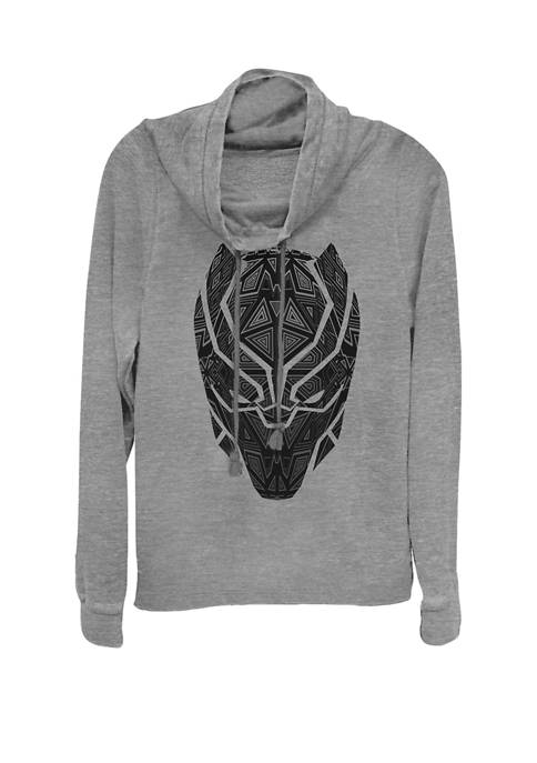Marvel™ Black Panther Geometric Prism Mask Cowl Neck