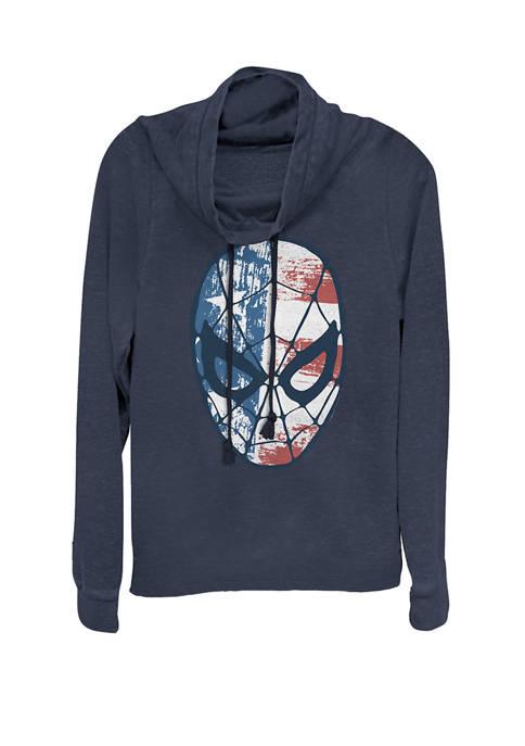Marvel™ Spider-Man American Flag Face Vintage Cowl Neck