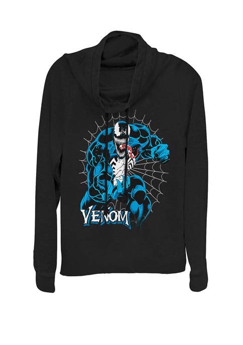 Marvel™ Venom Tangled In Web Cowl Neck Graphic