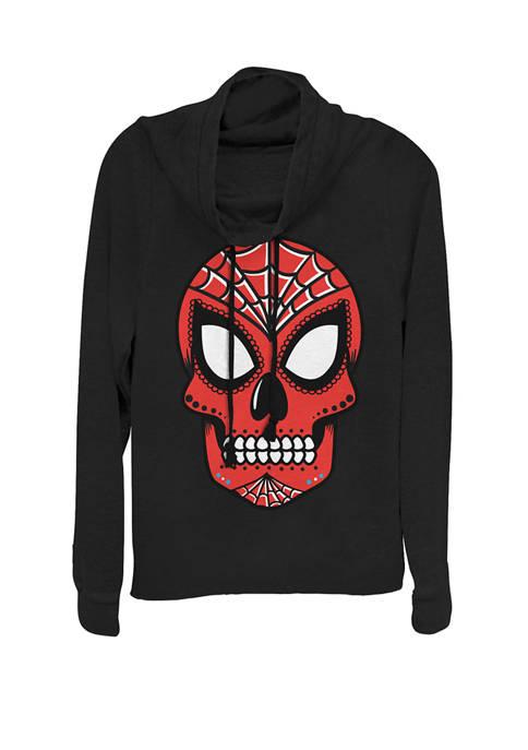 Marvel™ Spider Man Sugar Skull Cowl Neck Graphic