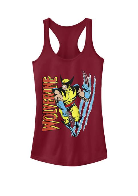 Classic X-Men Wolverine Scratch Racerback Graphic Tank