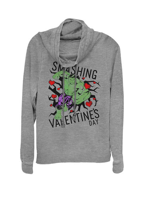 Hulk Have A Smashing Valentines Day Cowl Neck Graphic Pullover